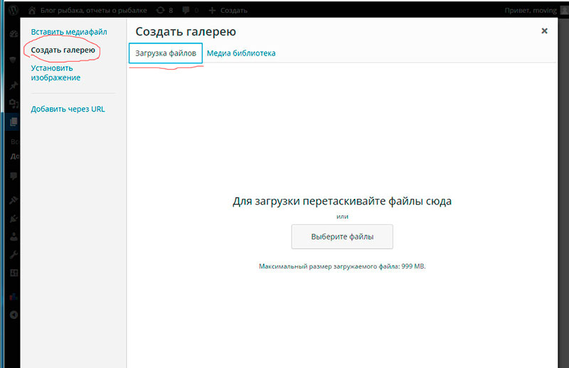 сделать фотогалерею на Wordpress