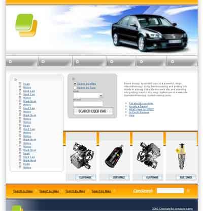 Шаблон автомобильного сайта по продаже запчастей a583e60dd84